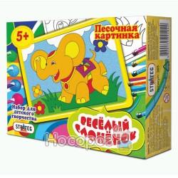 Песочная картинка STRATEG Весёлый Слонёнок