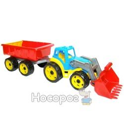 Трактор з ковшем і причепом ТехноК 3688