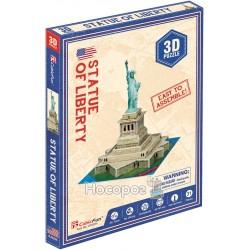 """Тривимірна головоломка-конструктор CubicFun """"Статуя свободи"""" міні S3026h"""