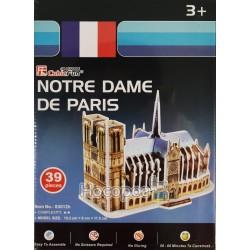 """Тривимірна головоломка-конструктор CubicFun """"Собор Паризької Богоматері"""" міні S3012h"""