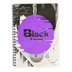 "Блокнот TM Profiplan Office ""Black & Bright"" violet"