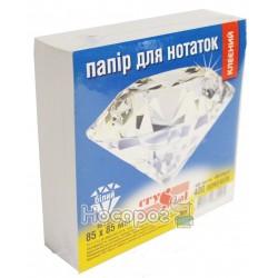 Блок бумаги для заметок Crystal белый, клееный