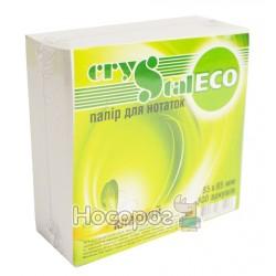 Блок бумаги для заметок Crystal ЭКО , клееный
