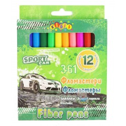 Фломастеры Kidis 7799 Sport car 12 цветов