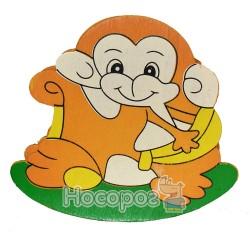 Подставка 974 В-6 детская, деревянная с зеркалом Животные