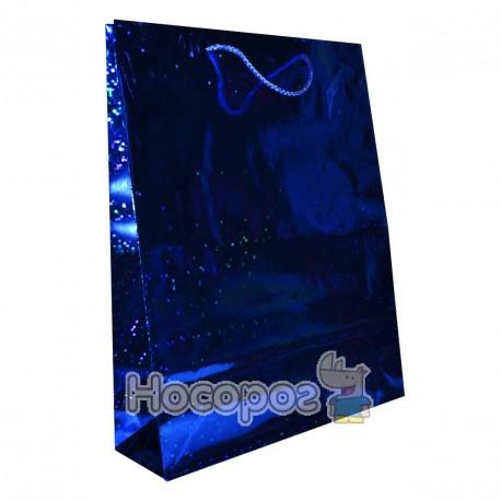 Пакет подарочный Голограмма 39х32х9 см