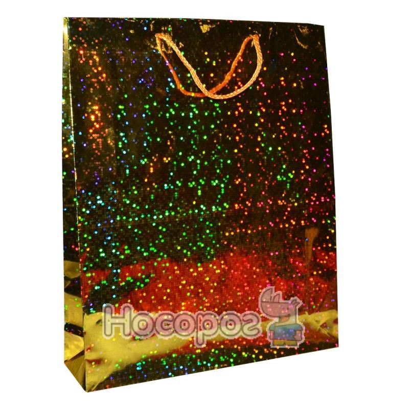 Фото Пакет подарочный Голограмма 39х32х9 см