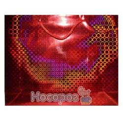 Пакет подарочный горизонтальный Голограмма 26х32х9 см