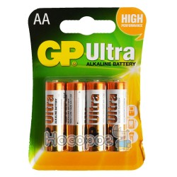 Батарейки АА GP Ultra alkaline battery 15AUMB-2U4 пальчик лужна 4891199027598 (40/320)