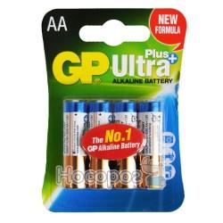 Батарейки пальчик щелочная АА GP Ultra Plus + 15AUPMB-2U4