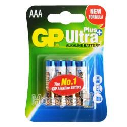 Батарейки ААА GP Ultra Plus 24AUPMB-2U4 мініпальчик лужна 4891199100338 (40)