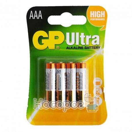 Фото Батарейки ААА GP Ultra alkaline battery 24AUMB-2U4 мініпальчик лужна 4891199027659 (40/320)