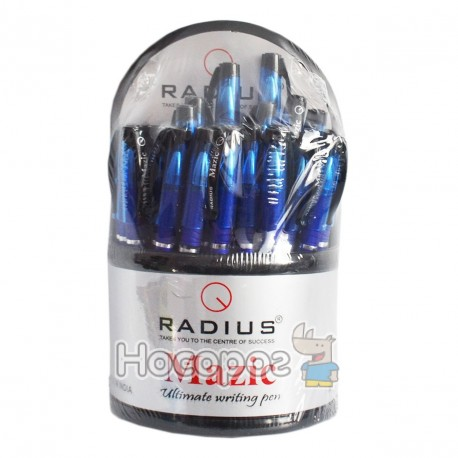 Ручка RADIUS Mazic кулькова 0,7 мм синя тонована, в пласт.дисплеї (30)