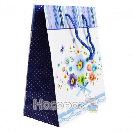 Пакет подарунковий Голограма/Квіти 23х18х10 (12 ШТ)