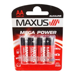 Батарейки MAXUS LR6/1.5V AA-С4 (Алкаліновий)