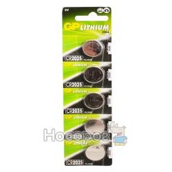 Батарейки Таблетка GP lithium CR2025-U5 3V