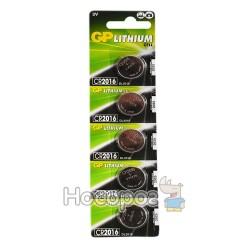 Батарейки Таблетка GP lithium CR2016-U5 3V