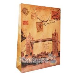 Пакет подарунковий Unison 661 668-670А 180g, 31,5*42*10см., крафт (12)