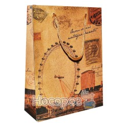 Пакет подарунковий Unison 661 668-670E 180g, 15*20.5*6см., крафт (12)