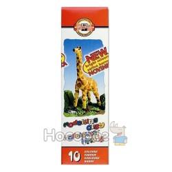 """Пластилин KOH-I-NOOR """"Жираф"""" 10 цв."""