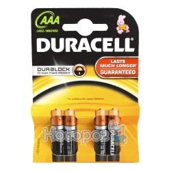 Батарейки Duraсell LR03/1,5V AAA минипальчик