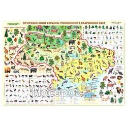 """Плакат - Природные зоны Украины (растительный и животный мир) """"ПиП"""" (укр.)"""