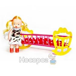 """Дитяча іграшка """"Ліжечко з лялькою"""" МГ 135"""