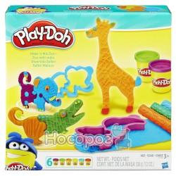 Пластилин Play - Doh Hasbro в наборе Make'nMixZoo B1168