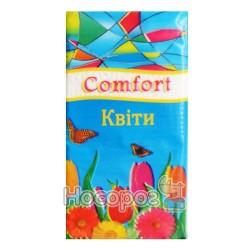 Серветки носові хустинки Comfort - Квіти
