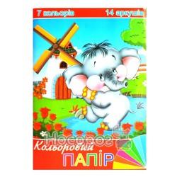 Бумага цветная Руслан А4 7 цв. 14 л.