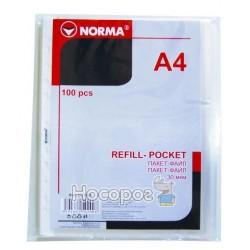 Файлы А4 NORMA 5079 40мкн., прозрачные (03010090)