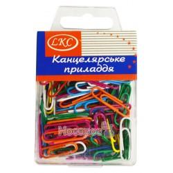 Скрепка LKC цветные №1043