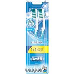 Набор зубных щеток Oral-B 1+1 Комплекс Глубокая чистка средней жесткости (3014260022617)