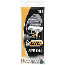 Набор бритв без сменных картриджей BIC Metal 10 шт (3086126636481)