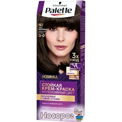 Краска для волос Palette N-2 (3-0) Темно-каштановый 110 мл (3838905551566)