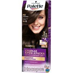 Краска для волос Palette N-3 (4-0) Каштановый 110 мл (3838905551573)