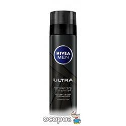 Чорний гель для гоління Nivea Men Ultra 200 мл (4005900495280)