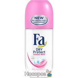 Дезодорант-антиперспирант Fa Dry Protect Нежность Хлопка 50 мл (4015100180404)