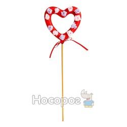 Валентинка-бублик на палочке YGQ1302