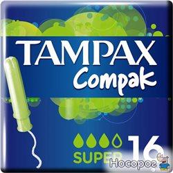 Тампоны Tampax Compak super с аппликатором 16 шт (4015400219712)