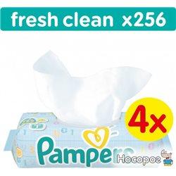 Дитячі вологі серветки Pampers Baby Fresh Clean 256 шт (4015400622734)