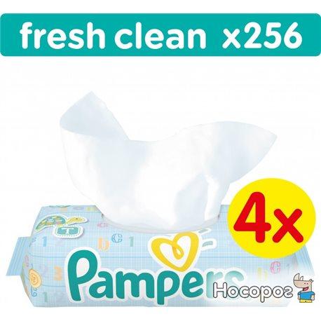 Фото Детские влажные салфетки Pampers Baby Fresh Clean 256 шт (4015400622734)