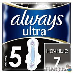 Гігієнічні прокладки Always Ultra Secure Night (Розмір 5) 7 шт. (4015400612346)