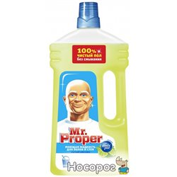 Моющая жидкость для полов и стен Mr. Proper Бодрящий лайм и мята 1 л (4084500644816)