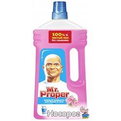 Моющая жидкость для полов и стен Mr. Proper Чистота и блеск Роза 1 л (4084500644892)