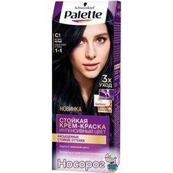 Краска для волос Palette С1 (1-1) Иссиня-черный 110 мл (4605966014762)