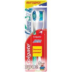 Зубна щітка Colgate Потрійна дія 1 + 1 середньої жорсткості (4606144007767)
