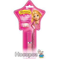 Блиск для губ Принцеса Світло-рожевий з спонжем 5 мл (4607075860032)