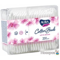Ватяні палички Cotton Club Aura Beauty Soft & delicate 200 шт (4751023299303)