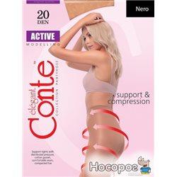 Колготки Conte Active 20 Den 2 р Nero -4810226006566